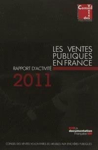 Les ventes publiques en France : rapport d'activité 2011