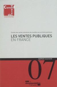 Les ventes publiques en France : rapport d'activité 2007