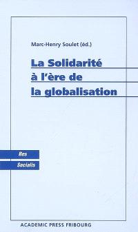 La solidarité à l'ère de la globalisation