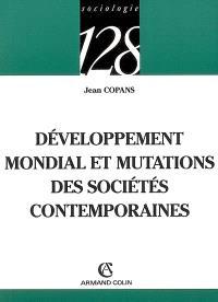 Développement mondial et mutations des sociétés contemporaines