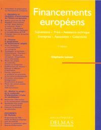 Financements européens : subvention, prêt, assistance technique, entreprise, association, collectivité