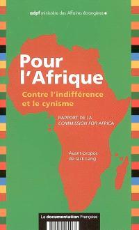 Pour l'Afrique : contre l'indifférence et le cynisme