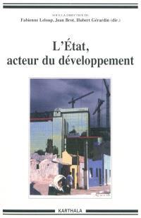 L'Etat, acteur du développement