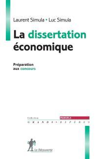La dissertation économique : préparation aux concours