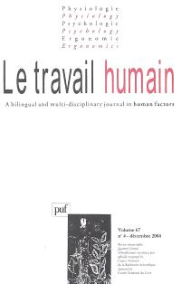 Travail humain (Le). n° 4 (2004)