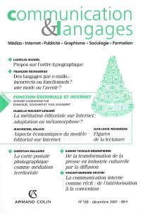 Communication & langages. n° 130, Fonction éditoriale et Internet