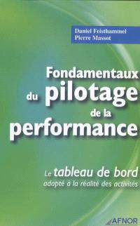 Fondamentaux du pilotage de la performance : le tableau de bord adapté à la réalité des activités