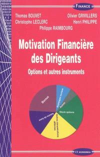 Motivation financière des dirigeants : options et autres instruments