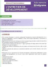 L'entretien de développement