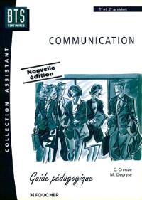 Communication, BTS assistant : guide pédagogique