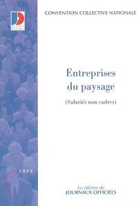 Entreprises du paysage : salariés non cadres