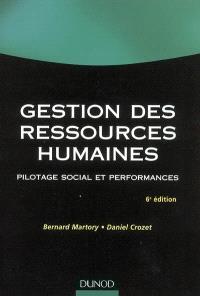 Gestion des ressources humaines : pilotage social et performances