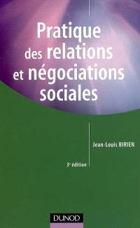 Pratique des relations et négociations sociales