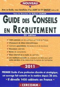 Guide des conseils en recrutement 2011