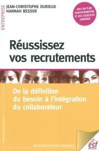 Réussissez vos recrutements : de la définition du besoin à l'intégration du collaborateur