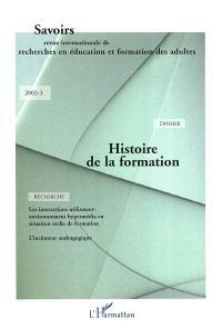 Savoirs. n° 3 (2003), Histoire de la formation
