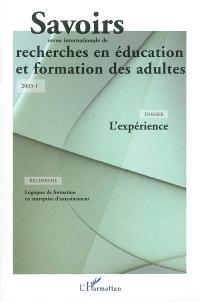 Savoirs. n° 1 (2003), L'expérience