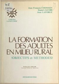 La Formation des adultes en milieu rural : objectifs et méthodes