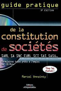 Constitution de sociétés : SARL, SA, SAS, SNC, EURL, SCI