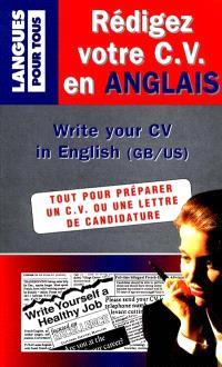 Rédigez votre CV en anglais