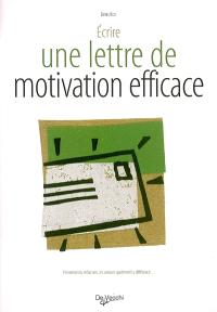 La lettre de motivation efficace
