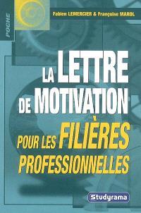 La lettre de motivation pour les filières professionnelles