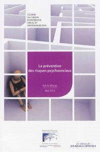 La prévention des risques psychosociaux : mandature 2010-2015, séance du 14 mai 2013
