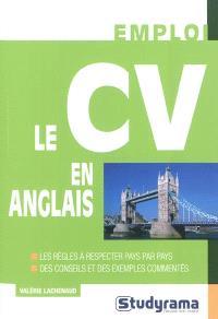 Le CV en anglais