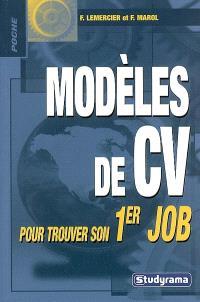 Modèles de CV pour trouver son 1er job