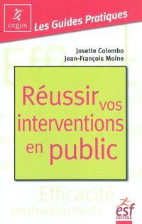 Réussir vos interventions en public