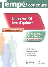 Entrée en IFSI : tests d'aptitude