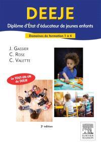DEEJE, diplôme d'Etat d'éducateur de jeunes enfants : domaines de formation 1 à 4