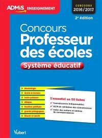 Concours professeur des écoles : système éducatif : concours 2016-2017