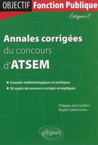 Annales corrigées du concours d'ATSEM : catégorie C
