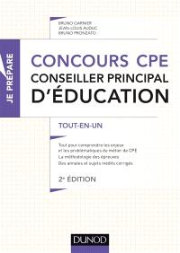 Concours CPE, conseiller principal d'éducation : tout-en-un