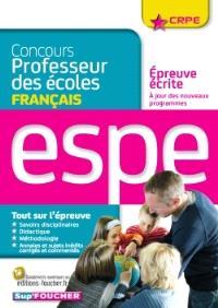 Concours professeur des écoles : épreuve écrite de français : ESPE