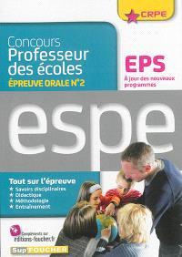 Concours professeur des écoles : épreuve orale n° 2, EPS, ESPE