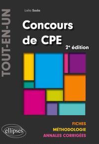 Concours de CPE tout-en-un : fiches, méthodologie, annales corrigées