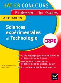 Sciences expérimentales et technologie : professeur des écoles, admission : 2014
