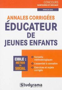 Annales corrigées éducateur de jeunes enfants, annales 2012 : cible métier du social