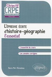 L'épreuve écrite d'histoire-géographie : l'essentiel