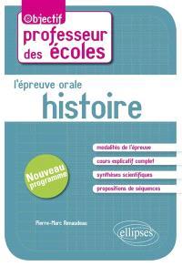 L'épreuve orale d'histoire : nouveau programme