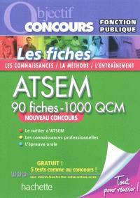 ATSEM, 90 fiches-1.000 QCM : catégorie C : nouveau concours