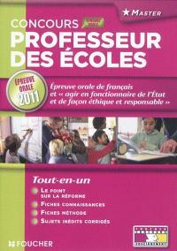 Concours 2011 professeur des écoles : présentation de la préparation d'une séquence d'enseignement en français et interrogation sur la compétence Agir en fonctionnaire de l'Etat et de façon éthique et responsable