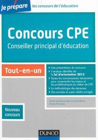 Concours CPE, conseiller principal d'éducation : tout-en-un : nouveau concours