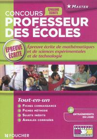 Concours professeur des écoles : l'épreuve écrite de mathématiques, sciences expérimentales et technologie