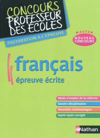 Français : épreuve écrite : nouveau concours master