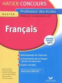 Français : épreuve écrite d'admissibilité : nouveau concours 2011