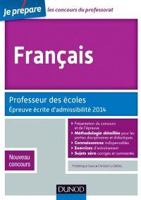 Français : professeur des écoles : épreuve écrite d'admissibilité 2014, nouveau concours
