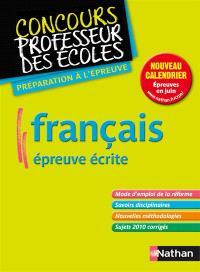Français, épreuve écrite : nouveau concours master : préparation à l'épreuve